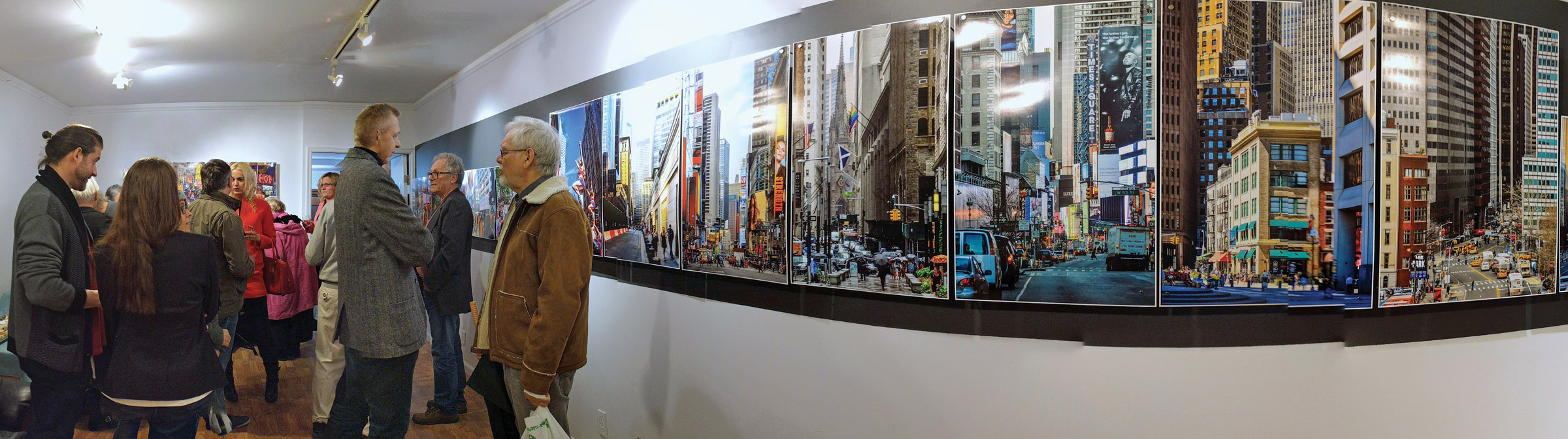 """Manhattan"" - Kurier Plus Gallery, Greenpoint Brooklyn, NY. Panorama photo by Jolanta Szczepkowska"