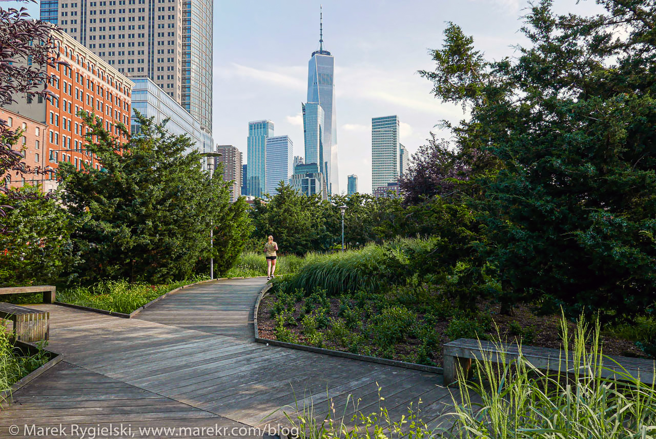 One WTC - view from Hudson River Park.