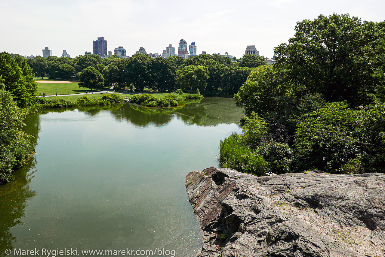Turtle Pond - view from Belvedere Castle, Central Park.