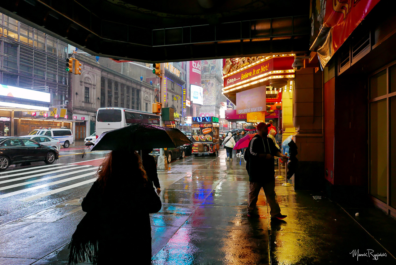 Rainy Day in New York City - 42nd Street.