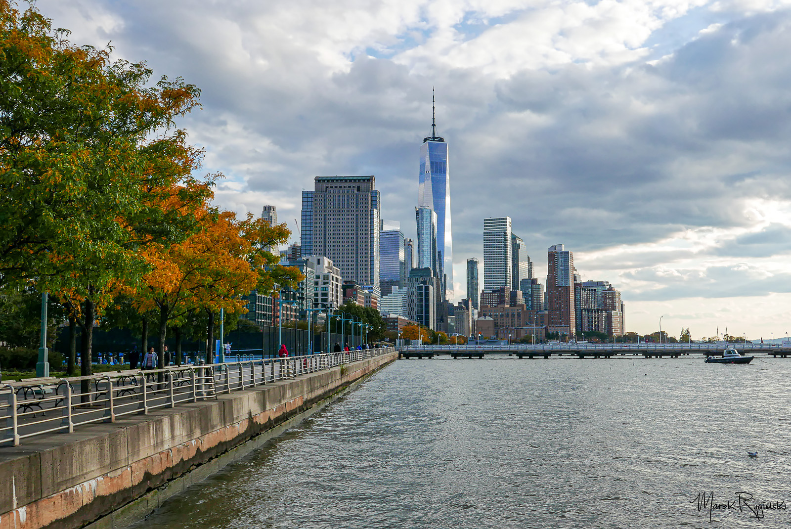 One World Trade Center - view from Hudson River Park.