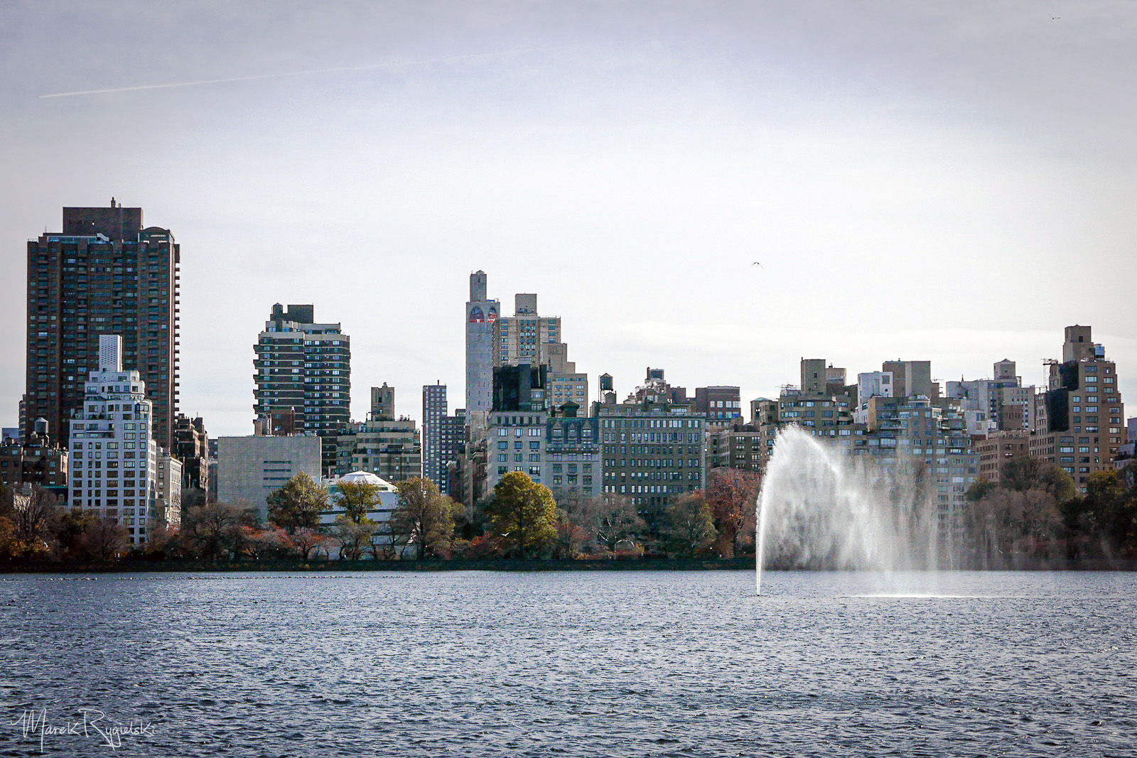 Upper East Side - view from Jacqueline Kennedy Onassis Reservoir in Central Park.