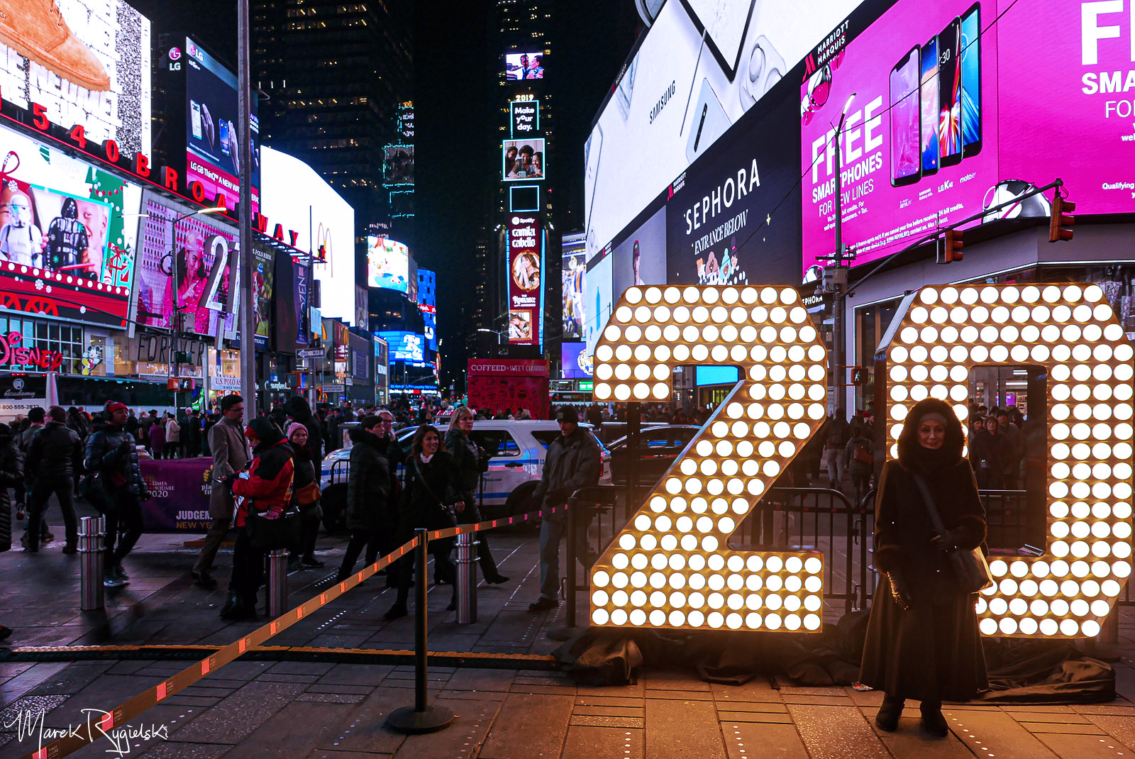 New Decade On The Way: '2020' Sign in Times Square.