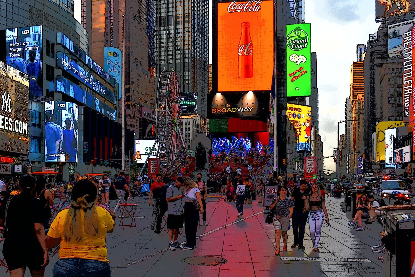 Times Square #experiment.