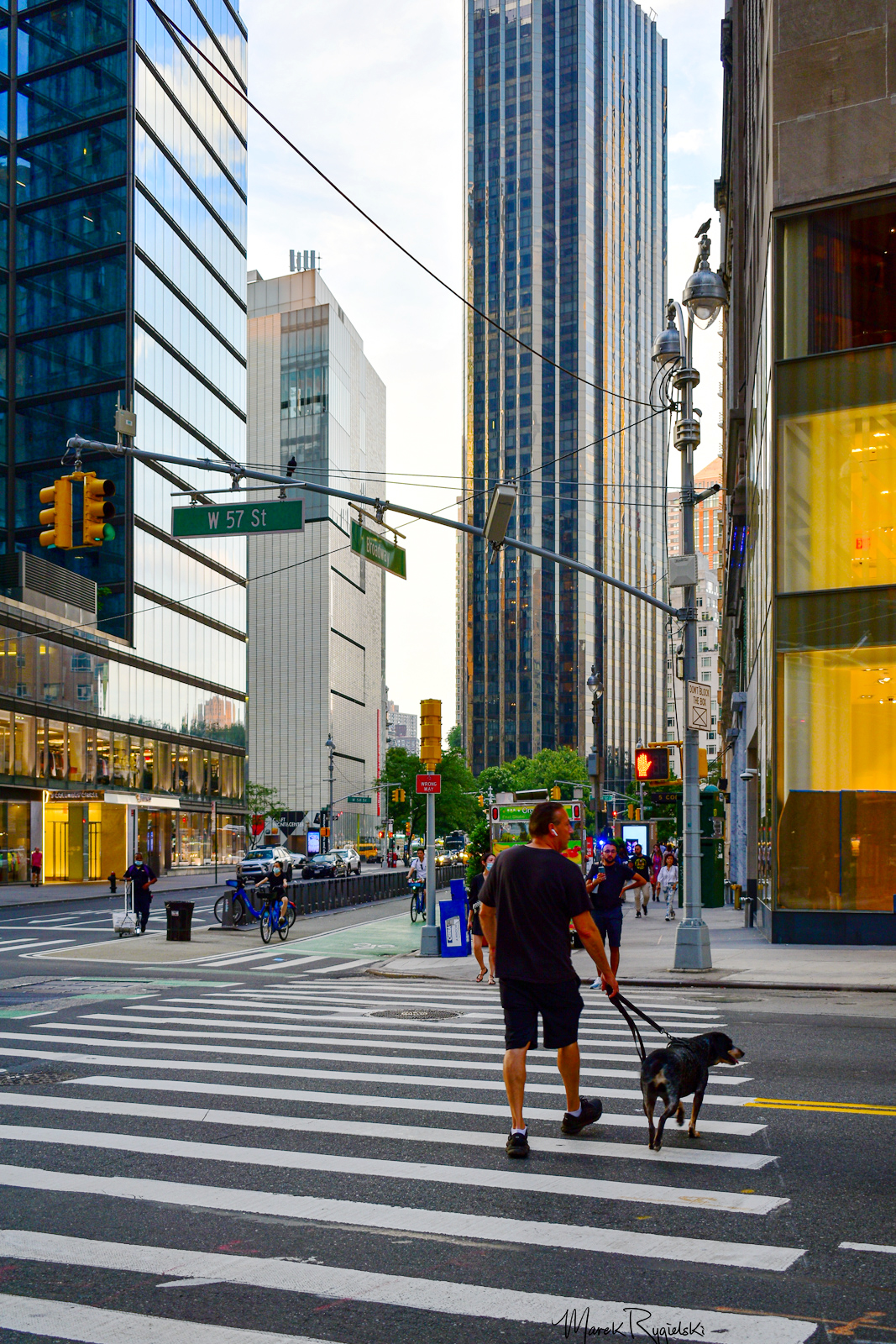 Columbus Circle - view from Broadway & 57th Street.
